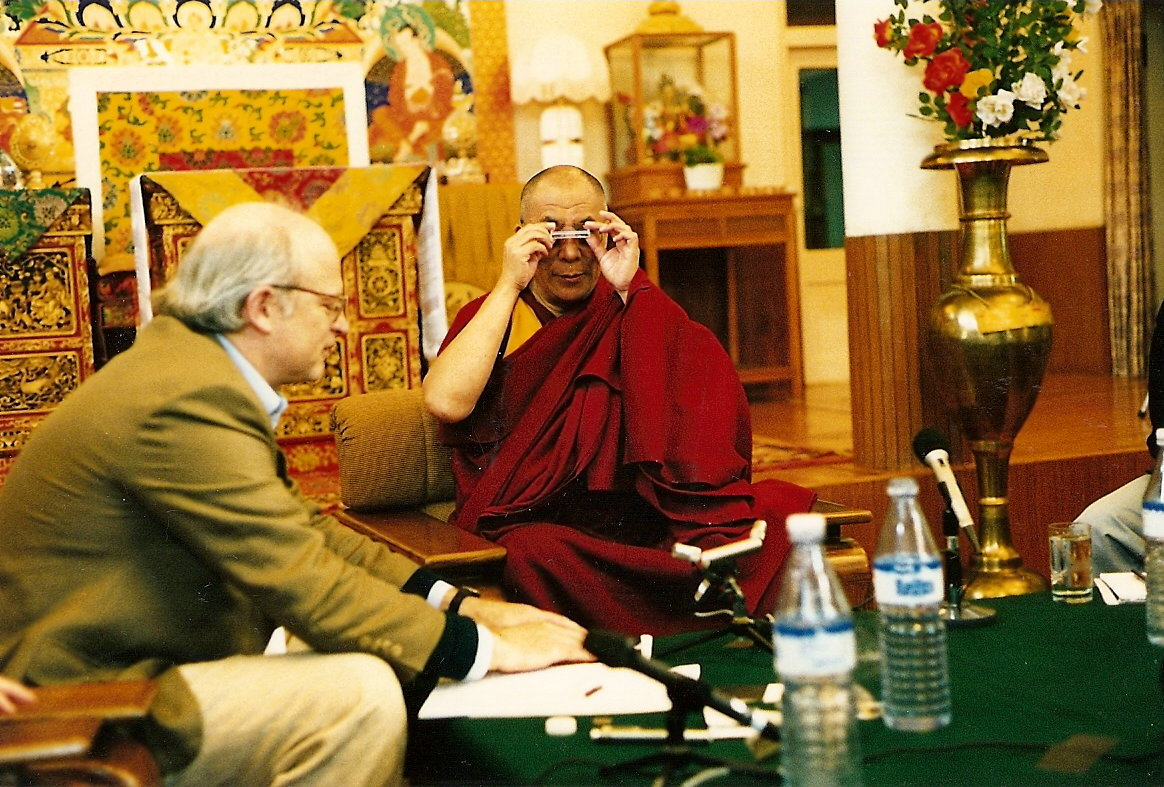 2003 with HHDL in Dharamsala
