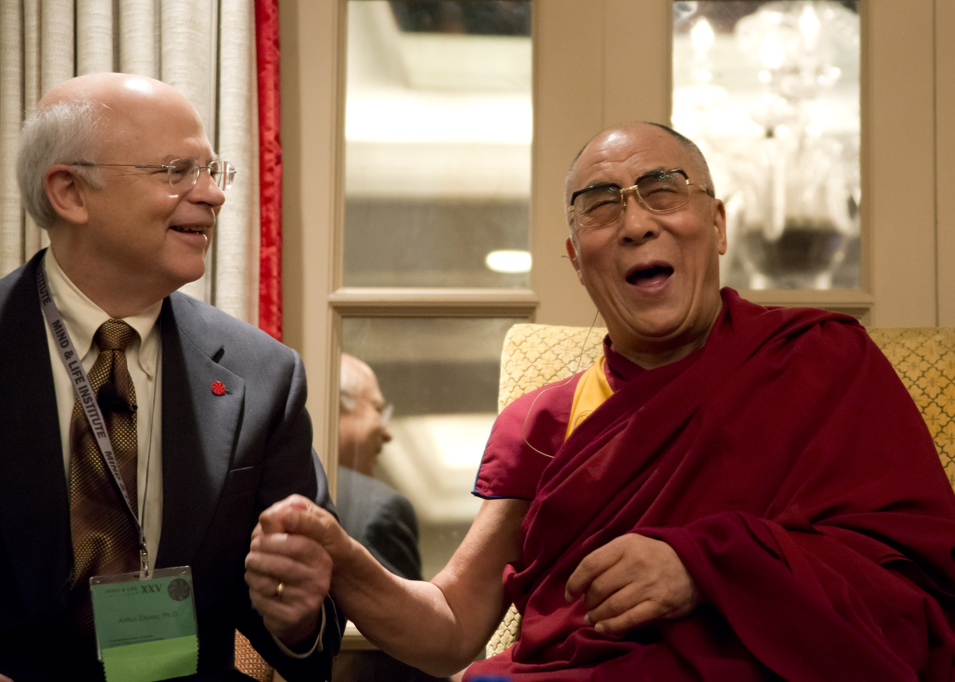 2012 with HHDL at Mind & Life Institute